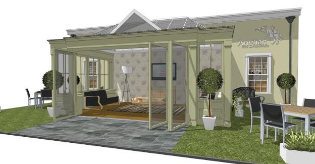 timber orangery to provide focal point at grand designs live. Black Bedroom Furniture Sets. Home Design Ideas