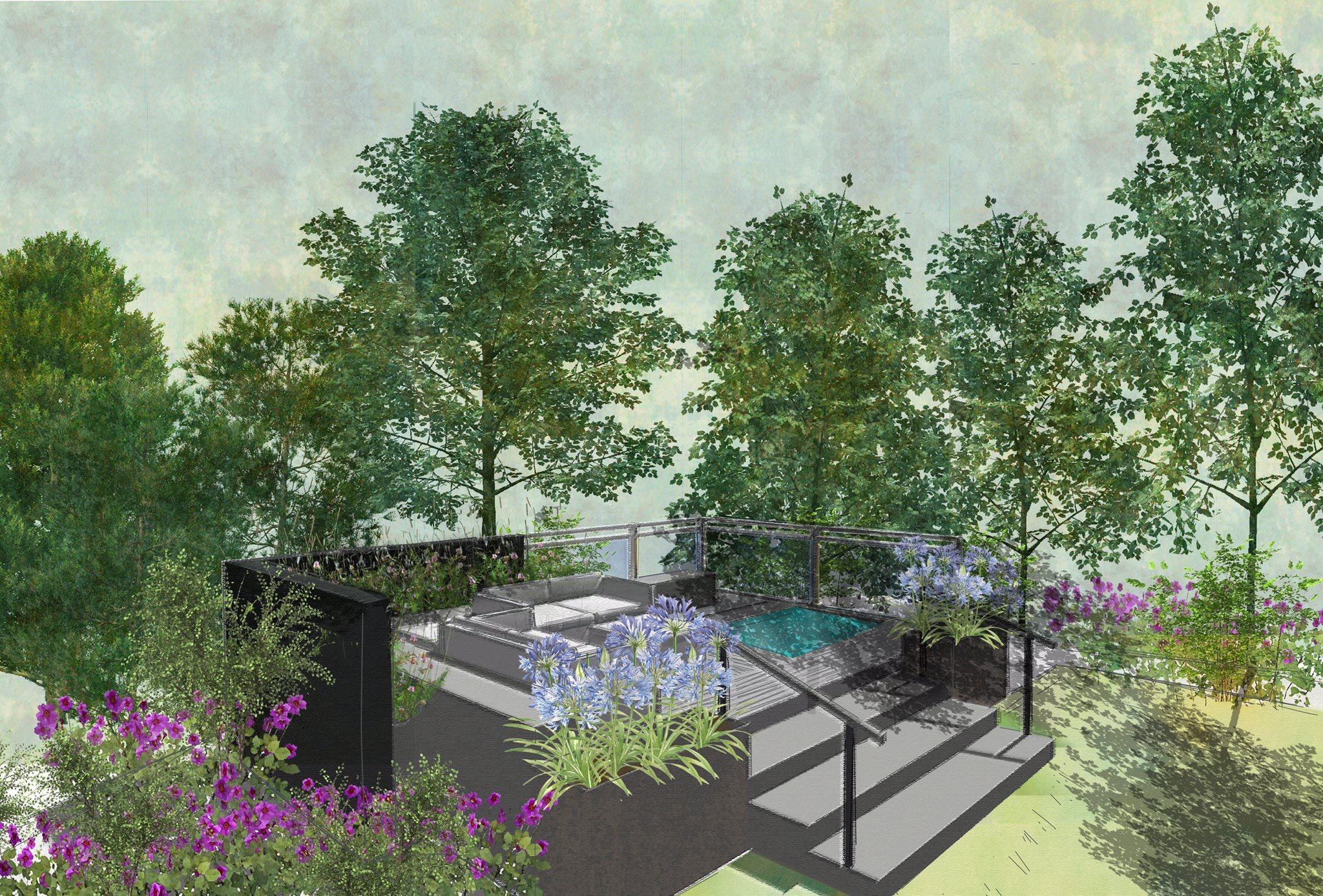 London college of garden design graduates win top garden for Garden design awards