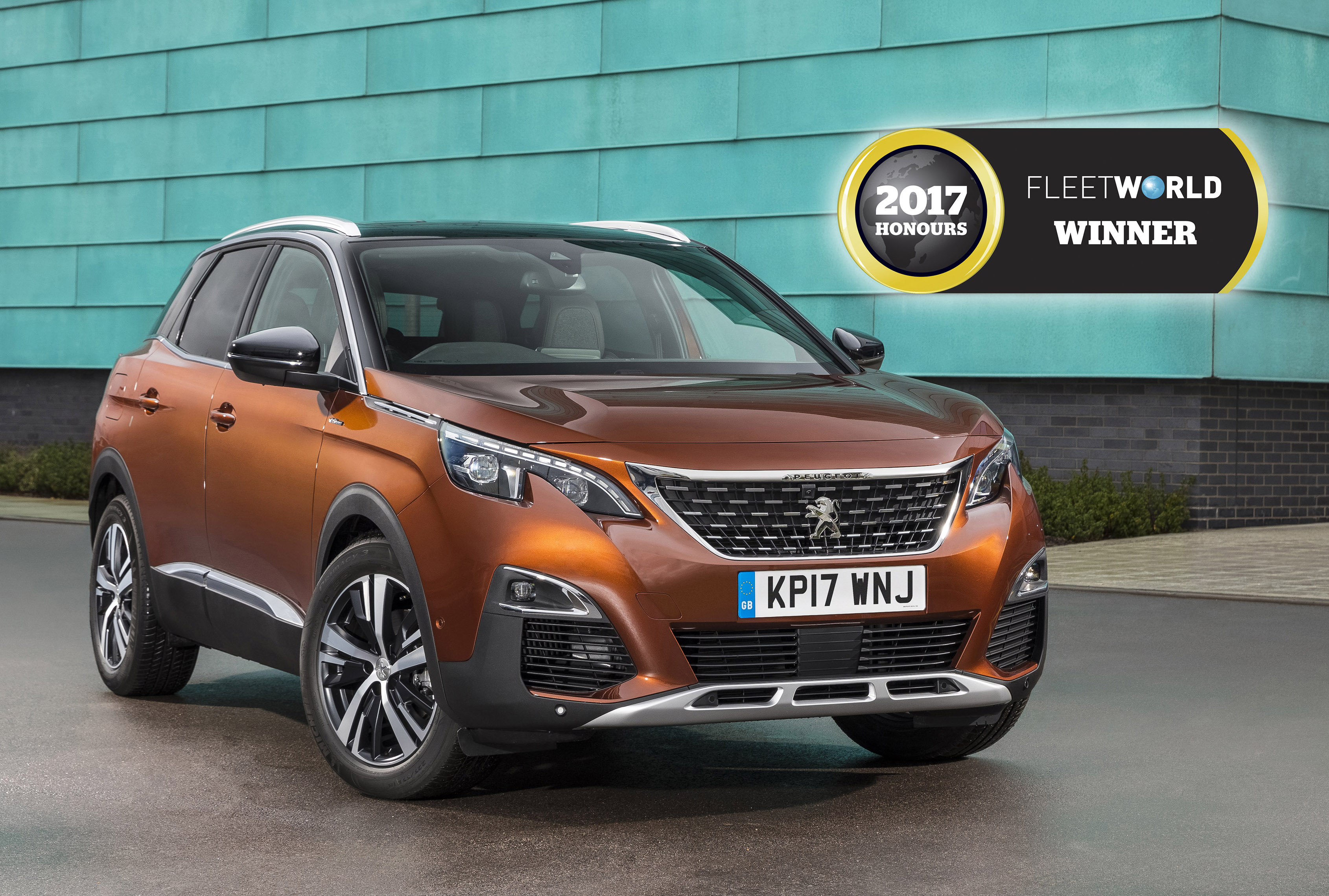 all new peugeot 3008 suv wins crossover of the year award in the 2017 fleet world honours. Black Bedroom Furniture Sets. Home Design Ideas