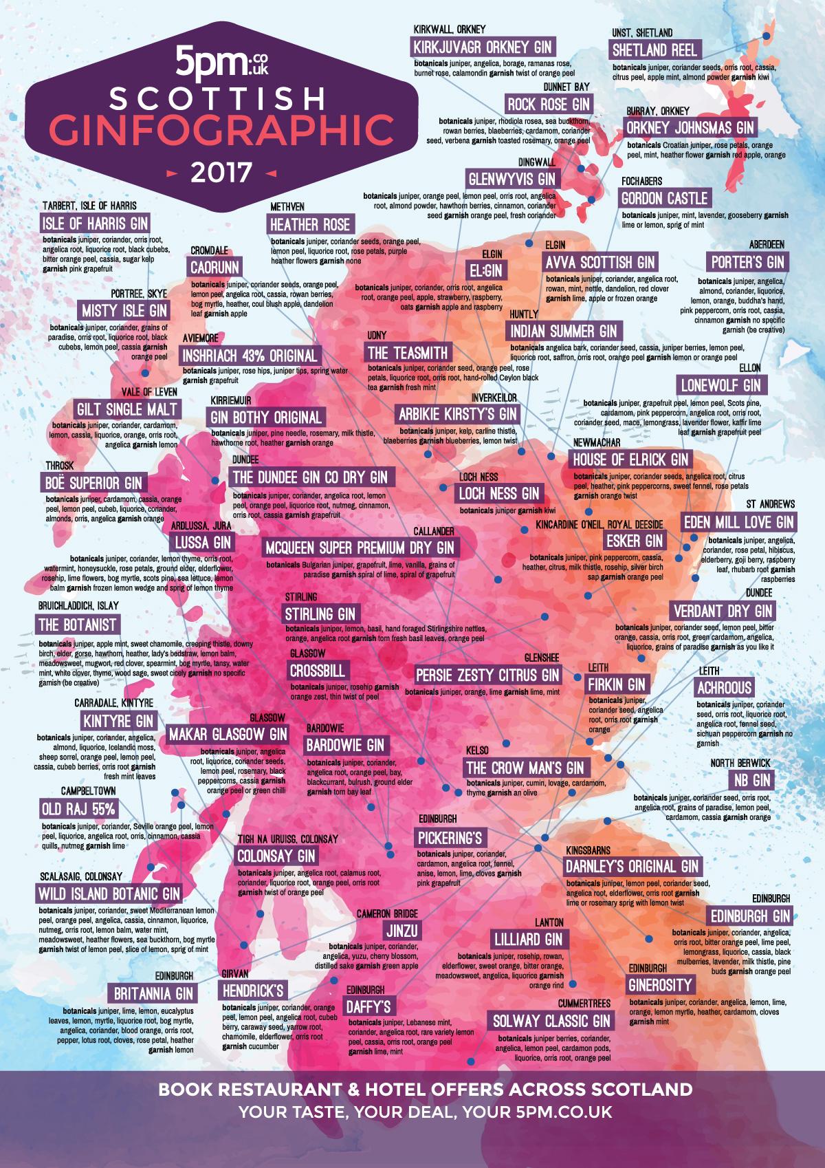 5pm Gin Map