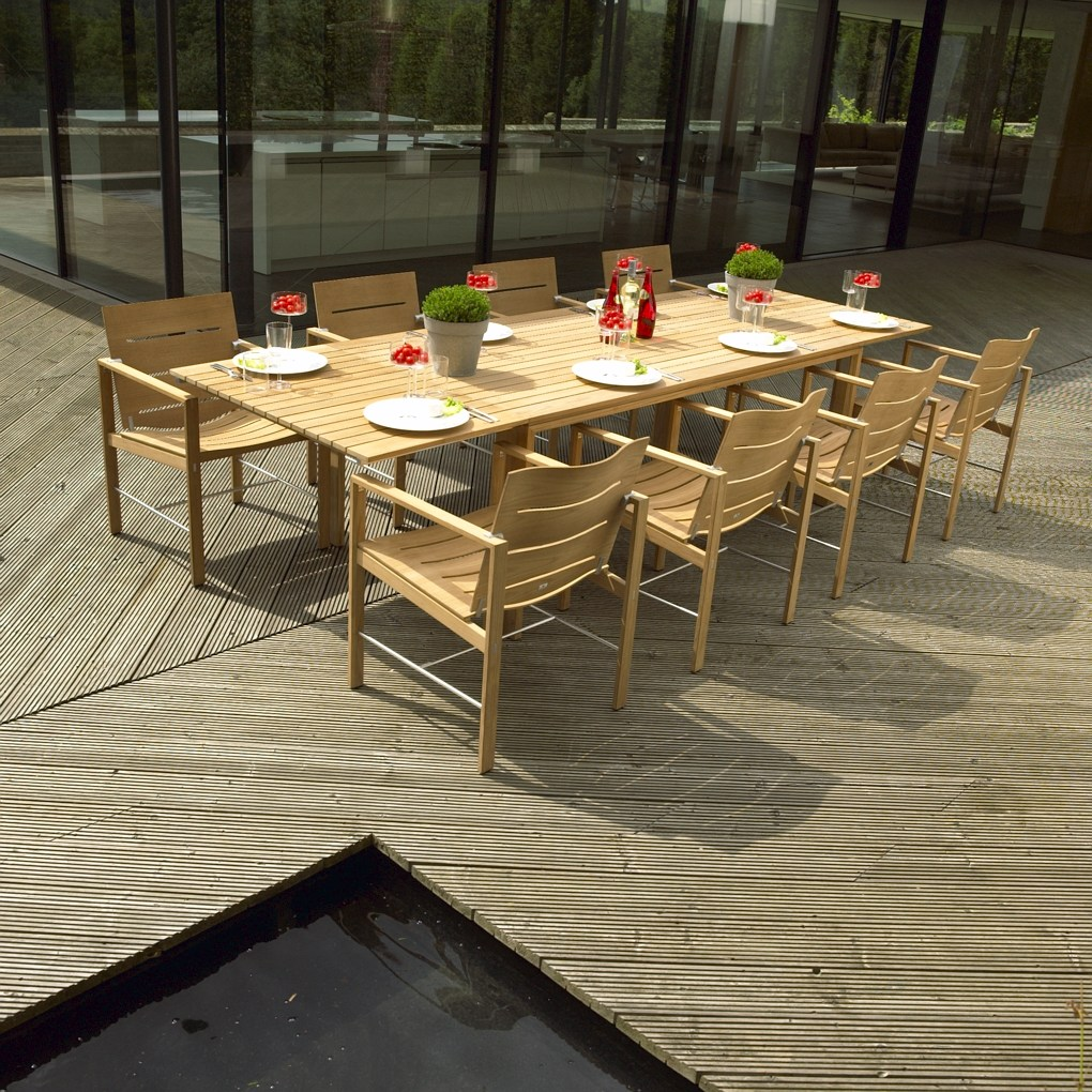 Curves are in as ground breaking new teak takes its seat in the garden