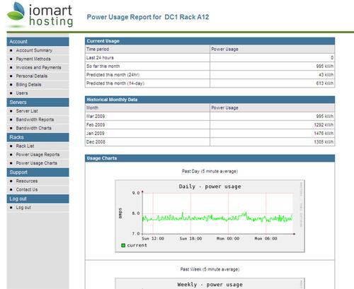 iomart Hosting Control Panel