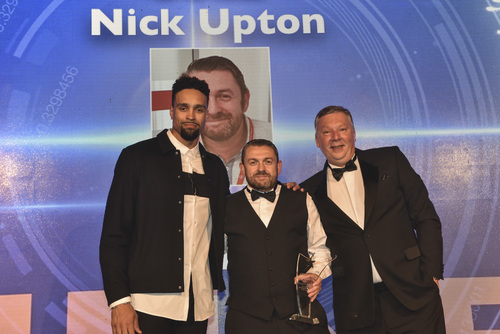 Ventrica's Nick Upton receiving award