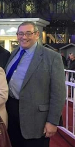 Father Paul Lomas before weight loss