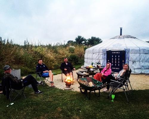 yurt life at Caalm Camp