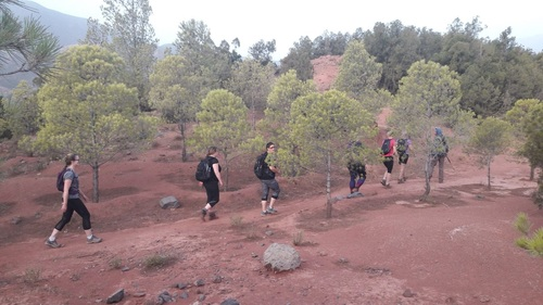 Group hiking at NYBC Morocco
