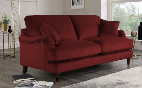 Charleston Velvet Sofa - Wine - £649.99