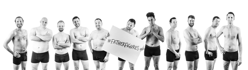 Dad's Pose Naked to Raise Awareness of F