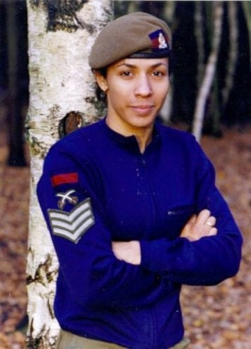 Dame Kelly Holmes aged 17 in the WRAC