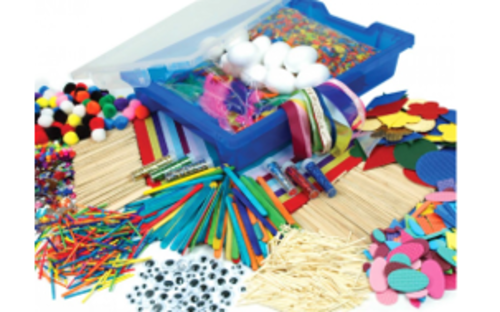 Collage Craft Storage Tray