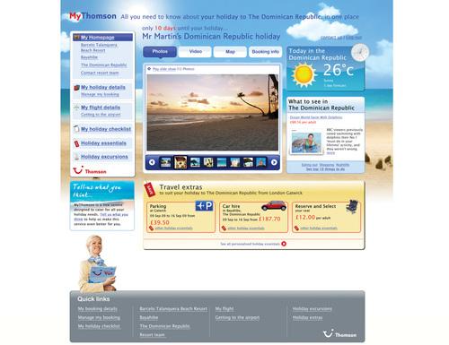 MyThomson home page