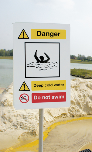 Danger Deep Cold Water