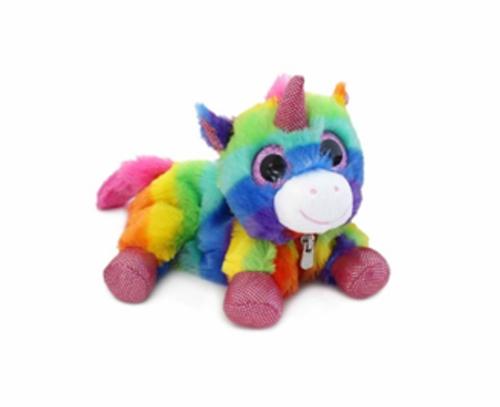 Unicorn Plush Rainbow Pencil Case
