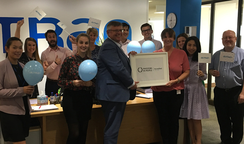 Altran UK employees celebrate