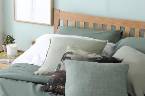 Bergamo Oak Bed Close up - &pound299.99
