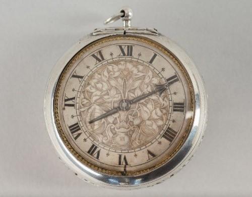 Edward East silver striking chaise clock