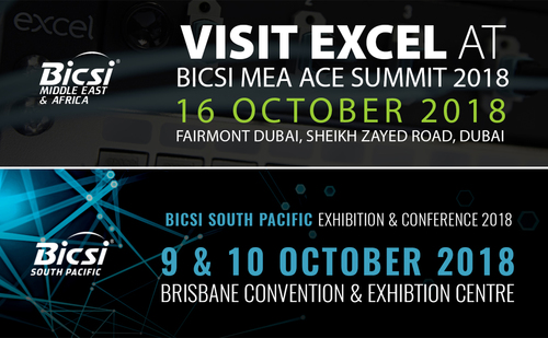 Excel exhibiting at BICSI events
