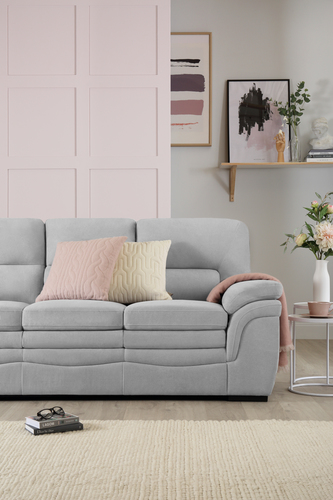 Sutton Plush Dove Grey Sofa - &pound399.99