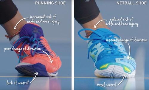 Running Shoe v Netball Shoe