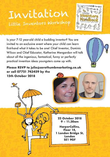 Little Inventors Workshop Invitation