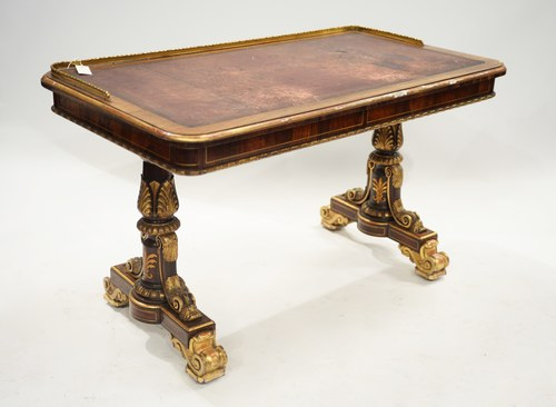 Gilt writing table