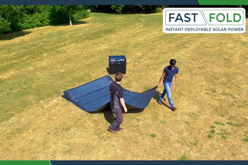 FAST FOLD solar deploys in seconds