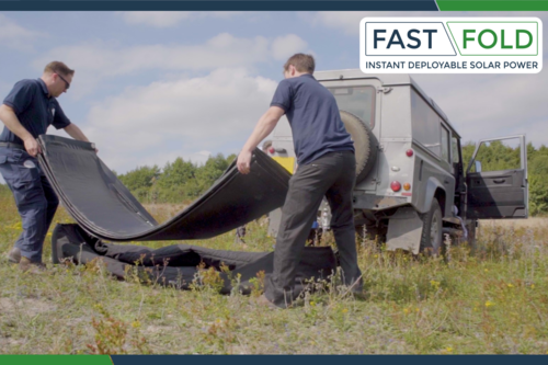FAST FOLD solar mats deployed by hand