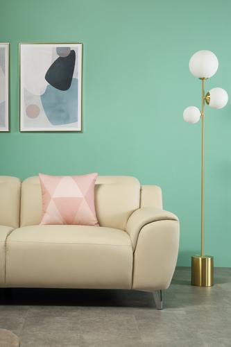 Finley Cream Leather Sofa - &pound449.99