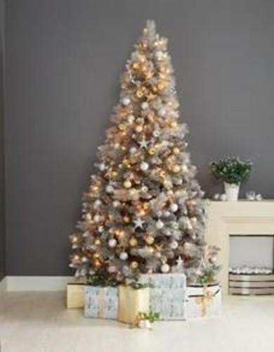Norfolk Grey Shimmer Christmas Tree - 7f