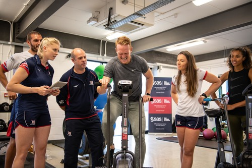 Greg Rutherford undergoing testing