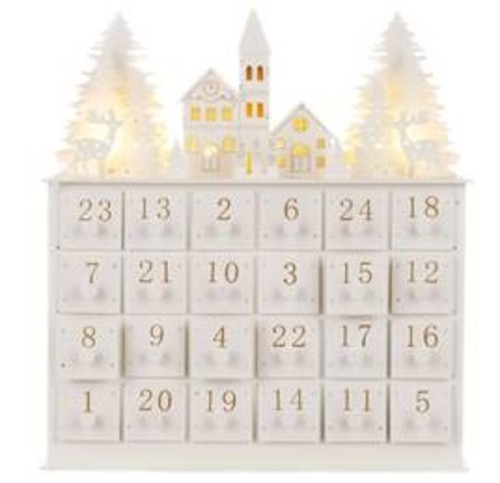 Robert Dyas Wooden Advent House - White
