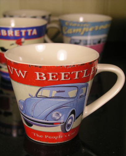 Retro mugs by Martin Wiscombe