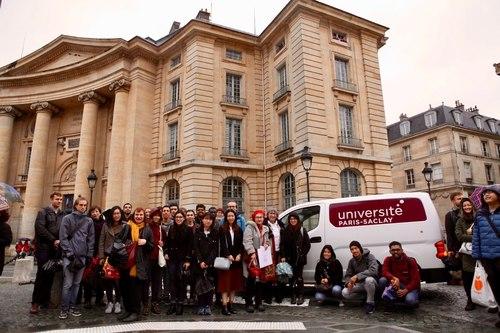 Paris-Saclay students on the tour