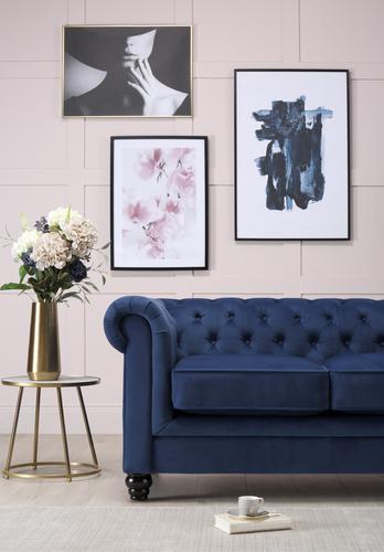 Hampton Blue Velvet Sofa - &pound599.99