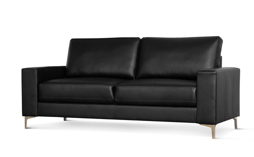 Baltimore Black Leather Sofa - &pound349.99