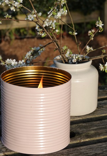 Pink Outdoor Candle