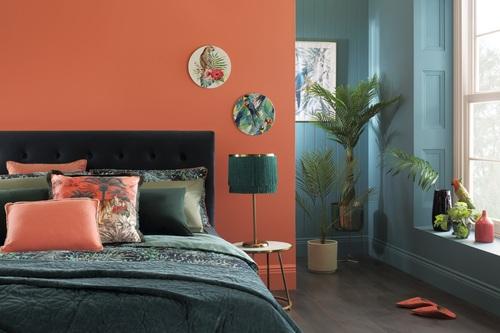 Brompton Blue Velvet Bed - £349.99