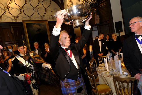 Ronnie Cox carries the Grand Quaich