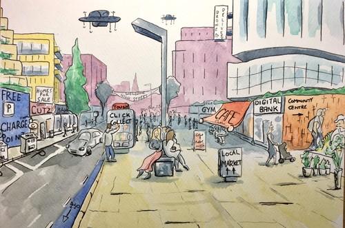 Future of the highstreet illustration