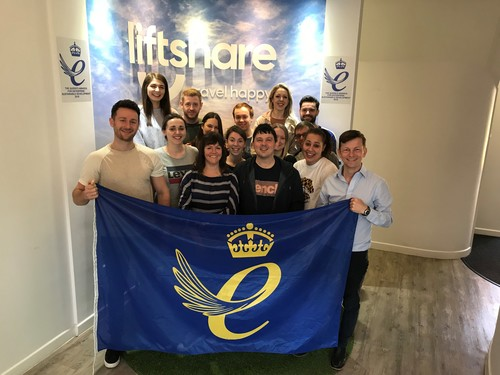 Liftshare team win 2019 Queen's Award