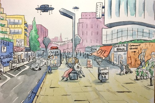 Future of the highstreet illustration