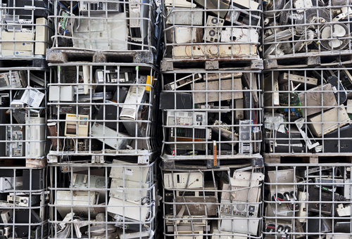 Caged electronic waste
