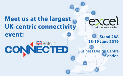 Excel exhibiting at Connected Britain