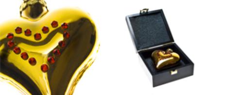 24-carat gold heart bauble