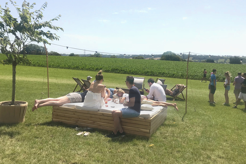 YURTEL GUESTS KICKING BACK IN THE SUN