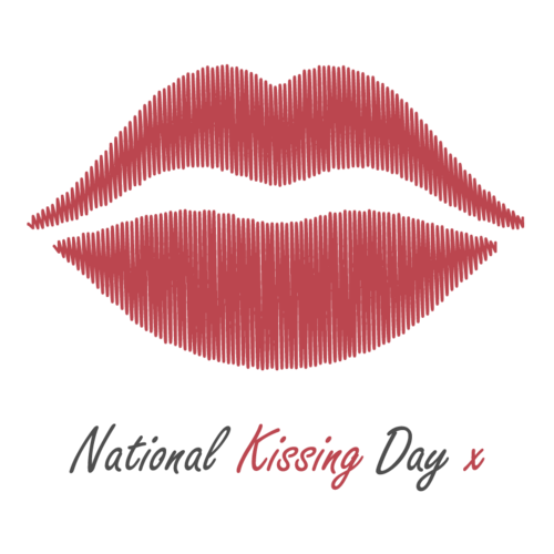 National Kissing Day Logo