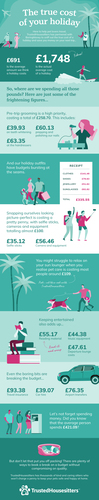 Holiday costs infographic