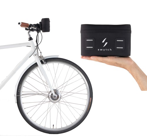 The hand-held electric bike kit