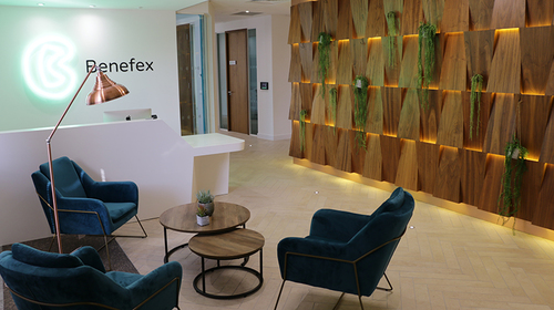 The new reception area in Benefex West