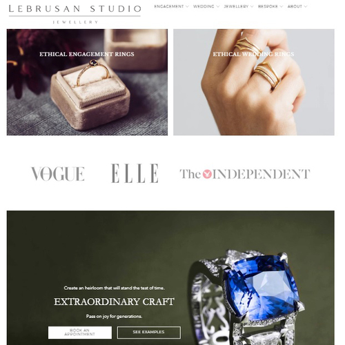 The slick new Lebrusan Studio site